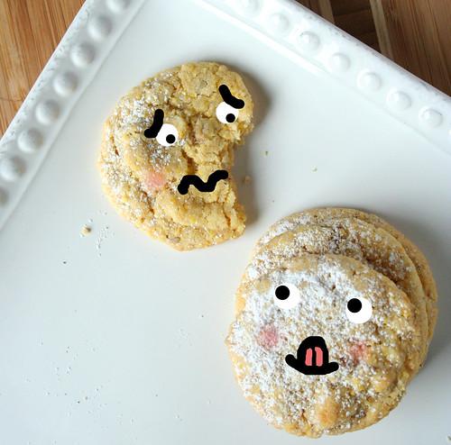 Cornmeal pecan cookies