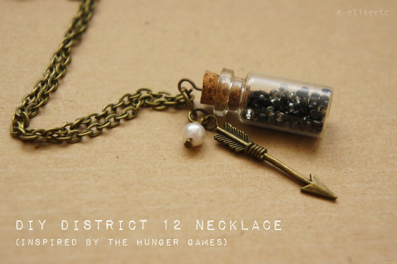 diy district 12 hunger games inspired necklace