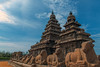 Seashore Temple with bluesky, Mahabalipuram, India.