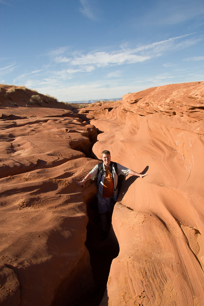 Ken standing in entrance to Lower Antelope Canyon