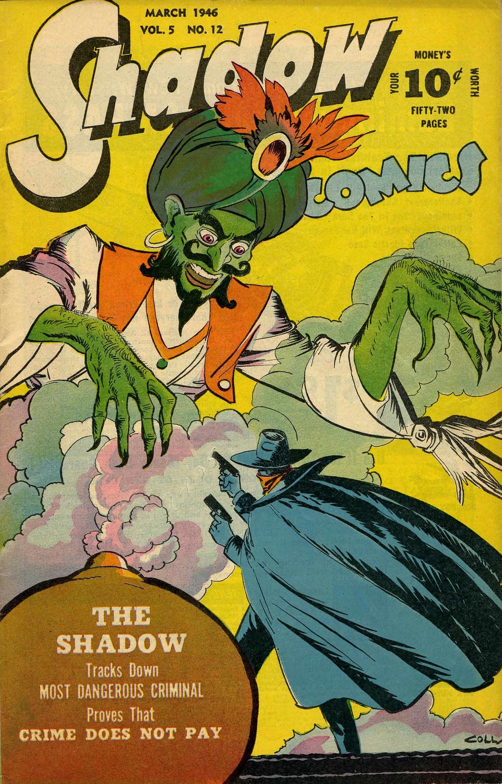 Shadow Comics V5#12 Mile High pedigree (Street & Smith, 1946) Charles Coll Cover