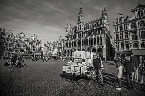 Artist At The Grand Place, Brussels