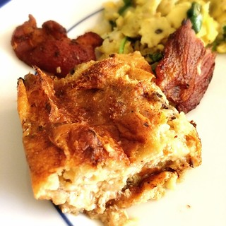Eggnog Baked French Toast and Bacon