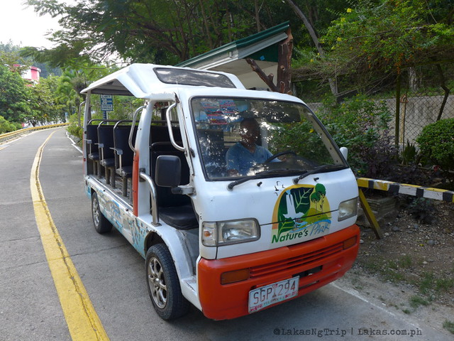Transportation that would take us around the park. Maria Cristina Falls in Iligan City, Philippines