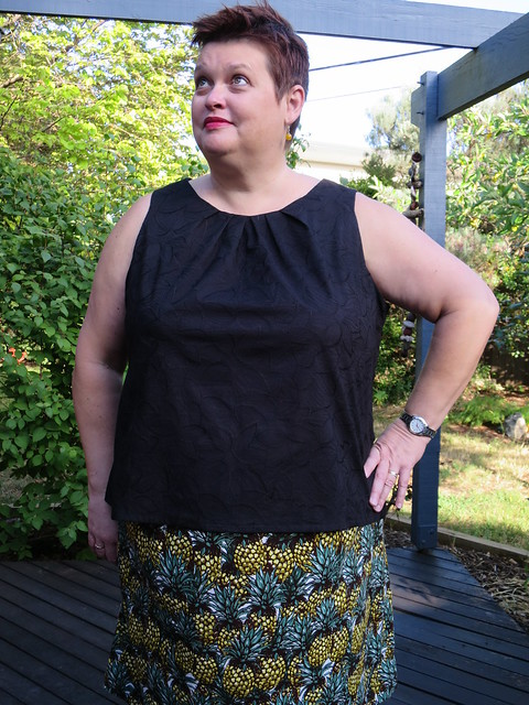 Simplicity 2929 blouse variation and McCalls 2873 skirt