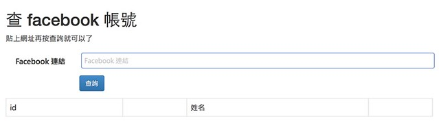 查facebook id