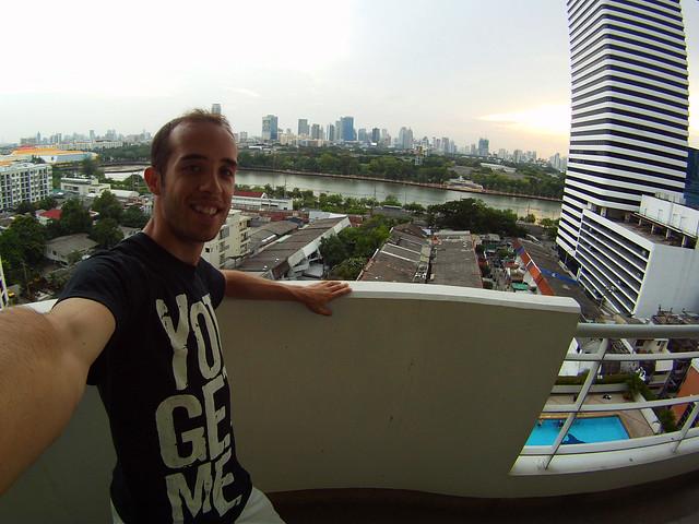 Mi hotel en Bangkok con vistas al skyline en un rascacielos