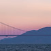 Moonset Over the Golden Gate by Bill Shupp