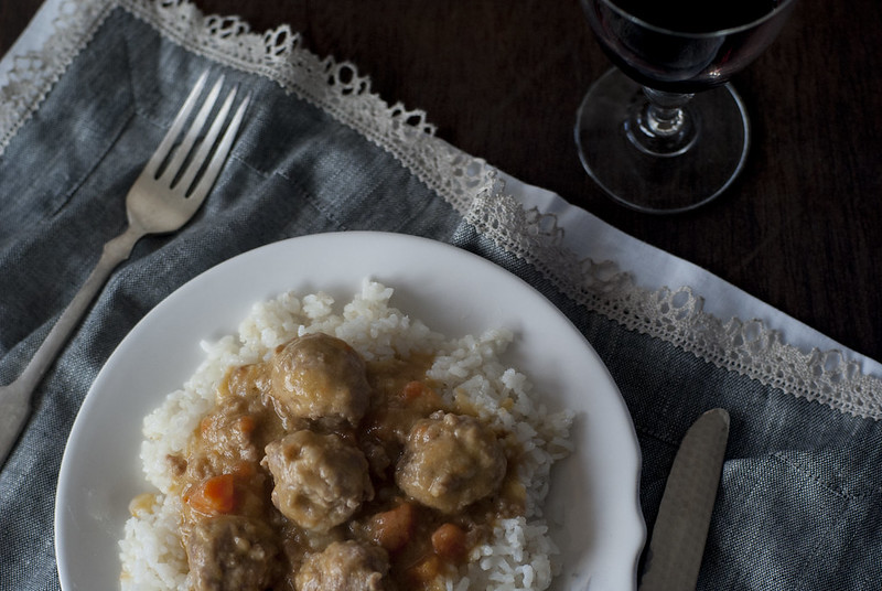 Albondigas con curry