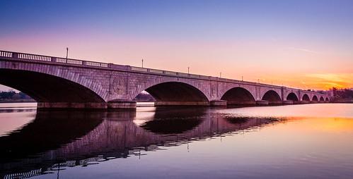 bridge sunset night washingtondc washington