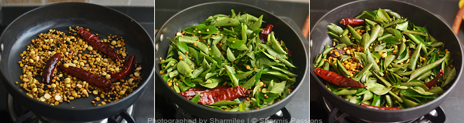 How to make curry leaves rice - Step2