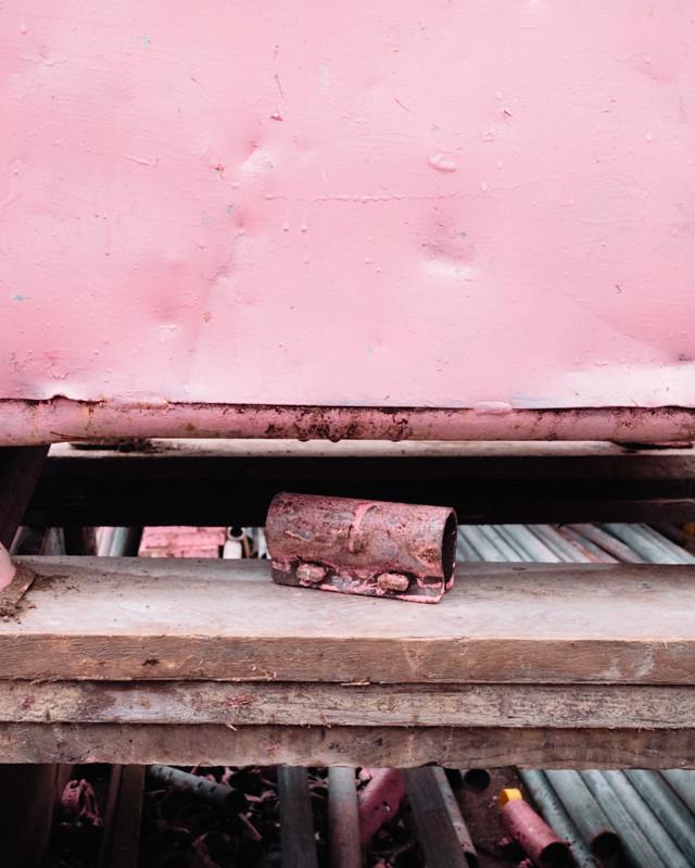 pink construction supplies