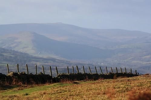 fence landscape hills penyfan powys abergavenny monmouthshire