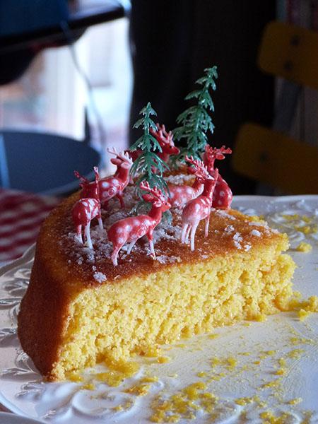 reste gâteau polenta