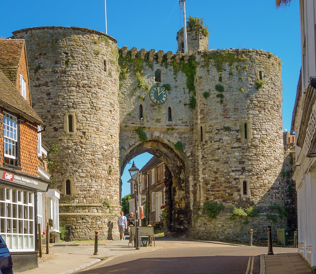 The 14th Century Landgate Arch In Rye East Sussex