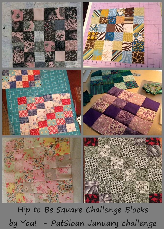pat sloan hip to be square challenge blocks 1