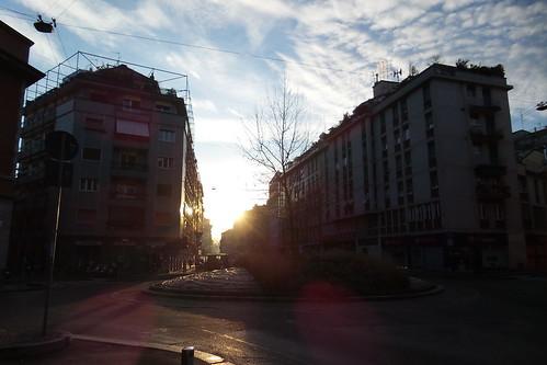 Il sole del mattino a #Milano