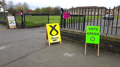 Northfield Community Centre, Edinburgh East constituency on Polling Day. 5th May 2016