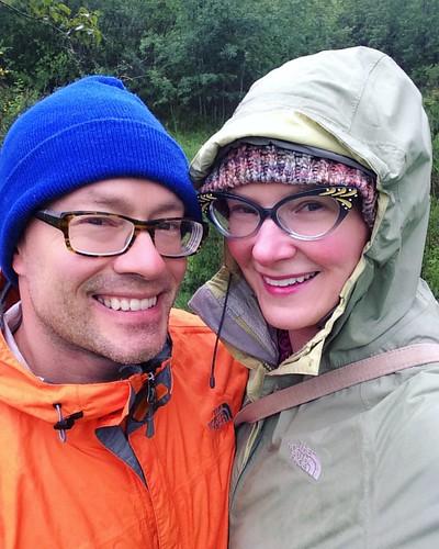 Dorks walking in the rain today. Brrrr. ☔️