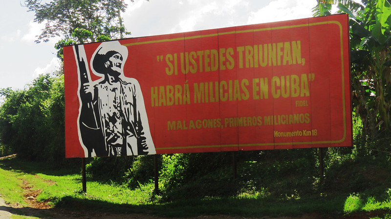 If you succeed, there will militias in Cuba