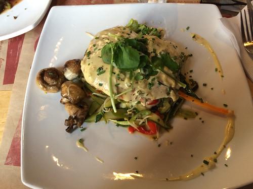Santiago:  un dernier saumon pour la route. Et avec des légumes svp !