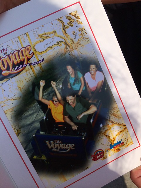 Souvenir on-ride photo from The Voyage