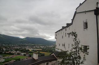 123 Uitzicht bij burcht Salzburg