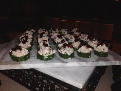 Spiced Florida Seafood Salad, Red onion Marmalade, Mache