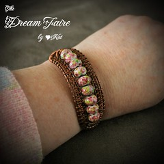 Down in the Meadow Copper Wire Weave Bracelet