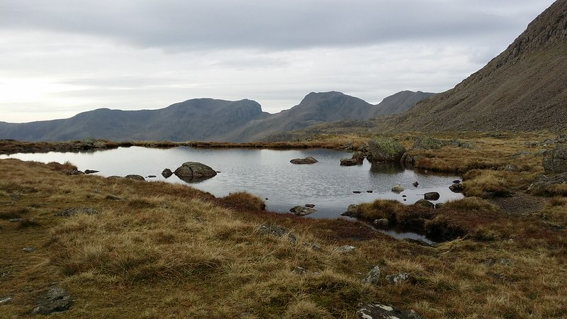The Scafells from Three Tarns #sh