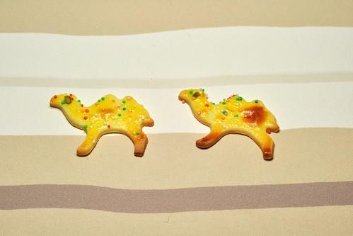 Weihnachten Tiere backen Rezept Buttergebäck Knetteig Ausstechteig Kamel Foto Brigitte Stolle