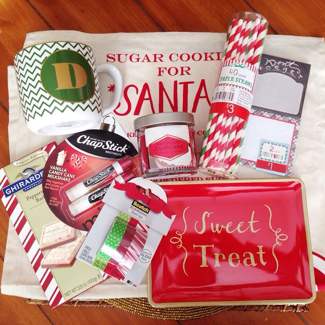 Finally went shopping for my Secret Clever!! 🎁 Clever Girls is having a #SecretClever exchange for bloggers and here is my 'sneak peek' before I package it up. I want all of these goodies (and they're all from #target ): cookies for Santa kitchen tow