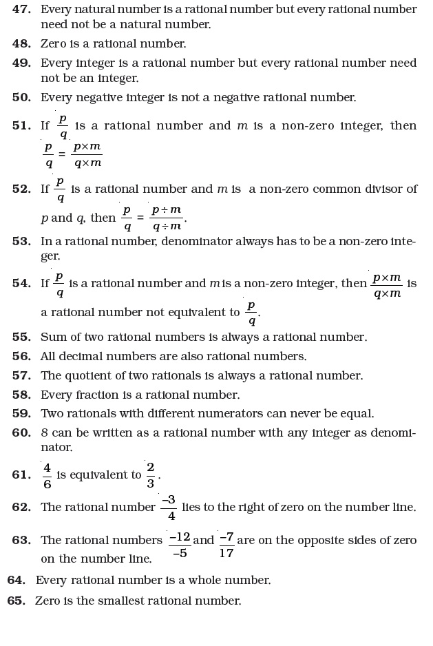 Class 7 Important Questions for Maths – Rational Numbers | AglaSem ...