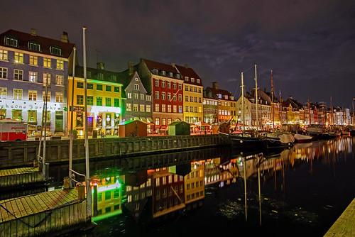 longexposure nightphotography copenhagen landscape denmark boats nyhavn canal nikon cityscape d600 nydavid1234