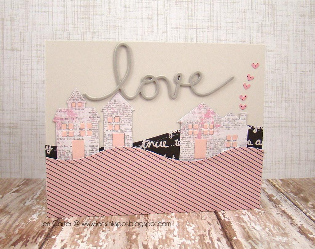 Jen Carter Frantic Stamper Love Houses