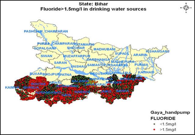 बिहार के आर्सेनिक और फ्लोराइड से दूषित पानी