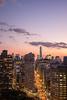 New York's Flatiron Building at sunset