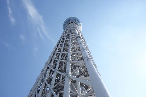 "TOKYO SKYTREE_5 ""東京スカイツリー"" の写真。 直下から見上げて撮影したもの。"