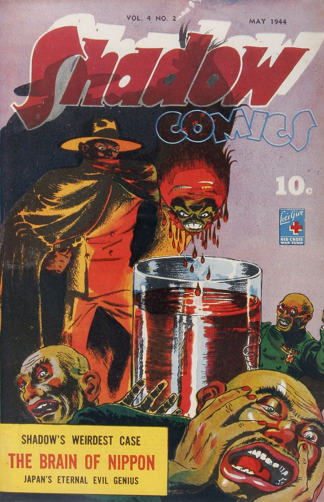 Shadow Comics V4#2 (Street & Smith, 1944) Charles Coll Cover