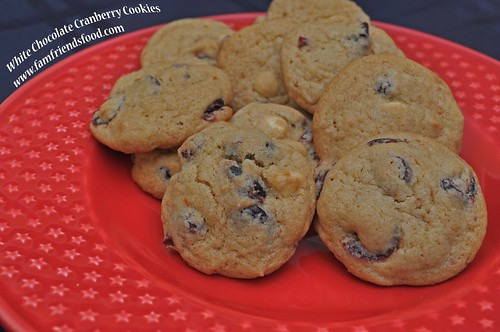 White Chocolate Cranberry Cookies 12012014