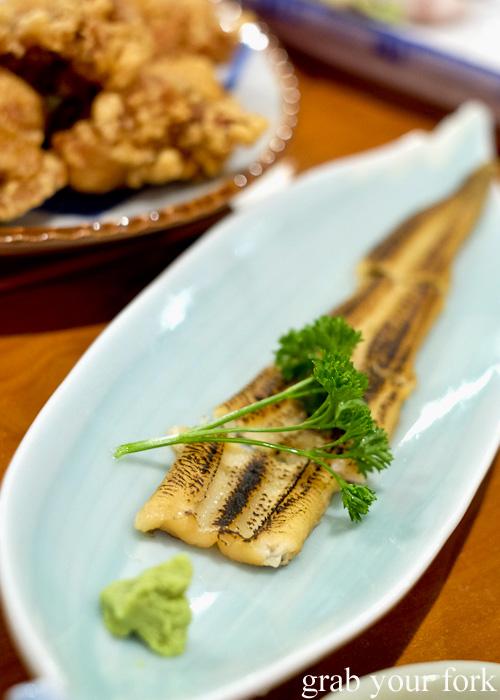Anago conger eel at Nom, Darlinghurst