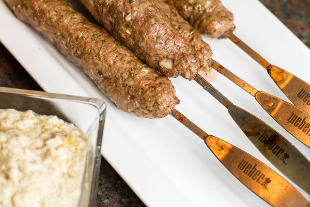 Kebabs with Fire-Charred Eggplant & Yogurt
