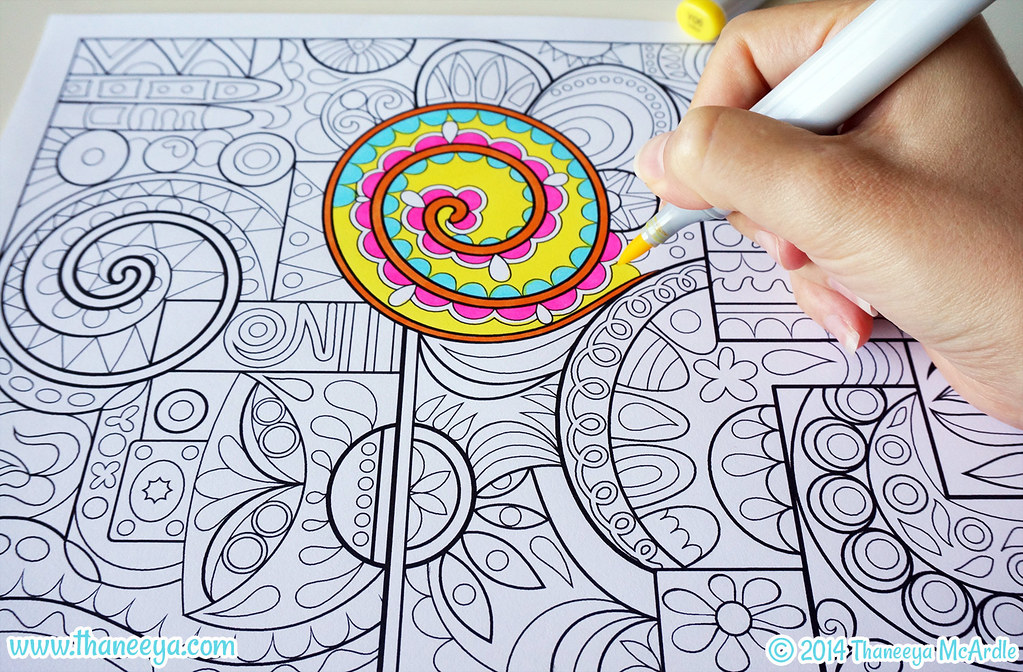 Groovy Abstract Coloring Page By Thaneeya McArdle