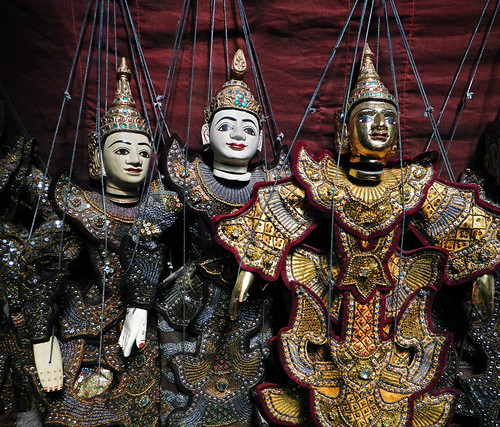 Marionettes For Sale In the Mandalay Wood Carvers' Workshop