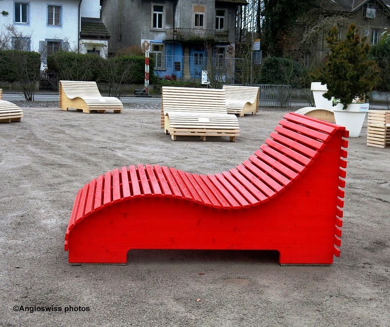 Red chair on Dornachereplatz Solothurn