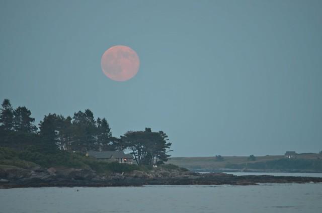 Moonrise Over Maine