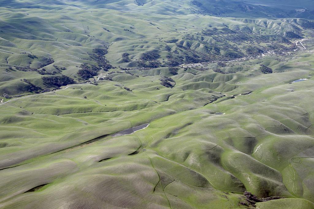 Aerial view of the San Andreas Fault, San Luis Obispo County, California