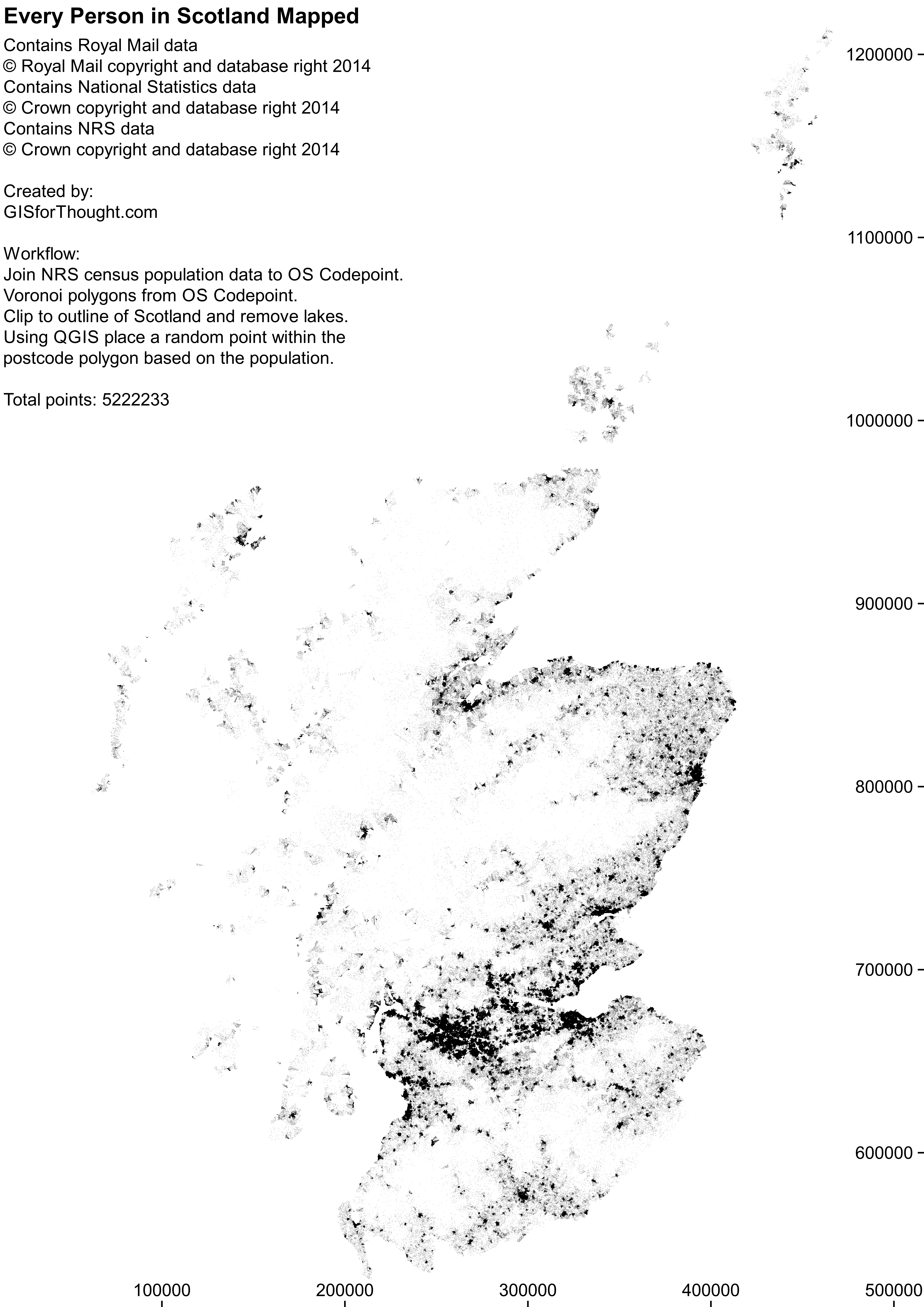 Population of Scotland Mapped