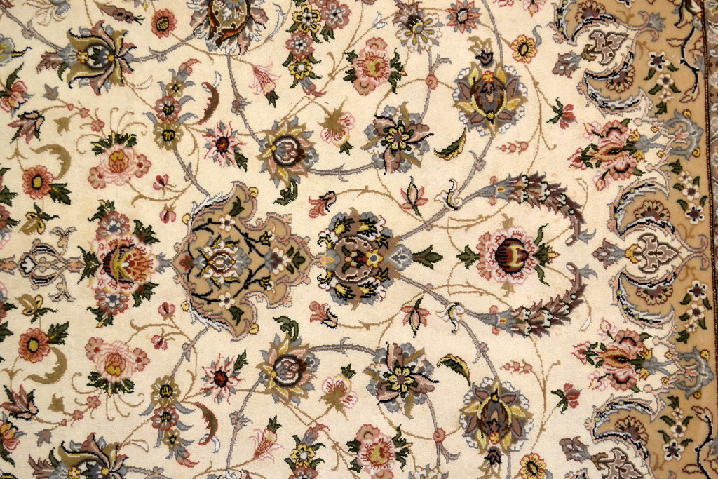 Pair Isfahan Esfahan Kaf Abrisham 7x10 persian Fine Area Rug (10)