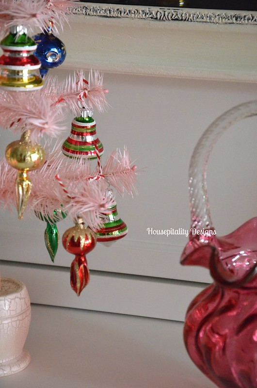 Feather Tree-Cranberry Glass-Housepitality Designs